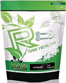 Raw Powders Alpha GPC 250mg 60 Cápsulas