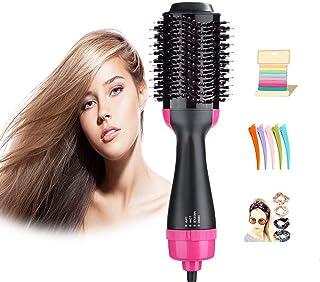 سشوار و حجم دهنده استایلر یک مرحله ای توسط صاف کننده مو و برس مو Vkbuou Hot Brush 3 در 1 برای ابزار مدل موی زنان دختر با فناوری یونی منفی برای موهای ضخیم بلند و نازک