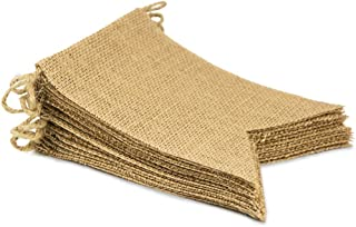 Sungpunet 15Pcs Burlap Banner, DIY Decoration for Wedding, Baby Shower and Party, 14Ft/4.3m