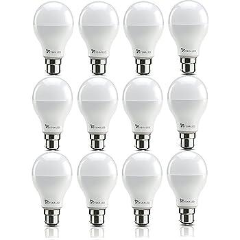Syska SSK-SRL-9W-Base B22 9-Watt Unbreakable LED Bulb (Pack of 12, Cool Day Light)