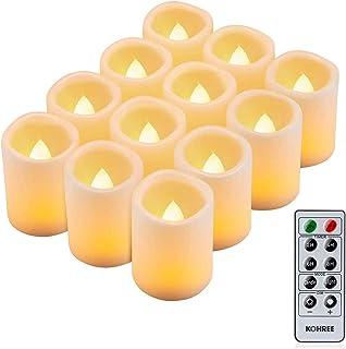 Kohree 12 x LED Kerzen mit timerfunktion Fernbedienung LED Teelichter Flackernde Flamme..
