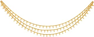 Fresh Vibes Multi Strand Three Line Traditional Indian Off-white Pearls Kamarband Chain for Ladies - Fancy & Elegant Party...