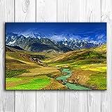 KWzEQ Imprimir en Lienzo Paisaje de Sunny Valley para decoración del hogar Fotos póster de Arte de pared60x90cmPintura sin Marco