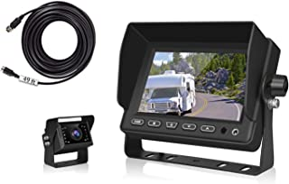"Backup Camera for Truck, VECLESUS V5M 5"" Monitor RV Truck Rearview Camera, 50ft Extension Cord, Night Vision Waterproof, U... photo"