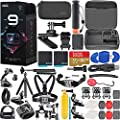 GoPro HERO9 Black Special Bundle + Hero 9 Action Accessory Kit Includes 2 Batteries, SanDisk Extreme 32GB microSDHC Memory Card, GoPro The Handler Floating Handle + More! from GoPro
