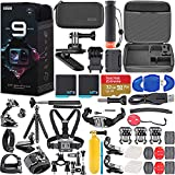 GoPro HERO9 Black Special Bundle + Hero 9 Action Accessory Kit Includes 2 Batteries, SanDisk Extreme 32GB microSDHC Memory Card, GoPro The Handler Floating Handle + More!