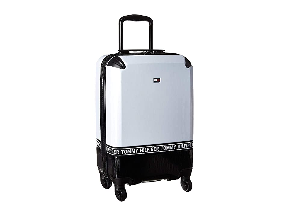 Tommy Hilfiger Courtside 20 Upright Suitcase (White/Black) Pullman Luggage