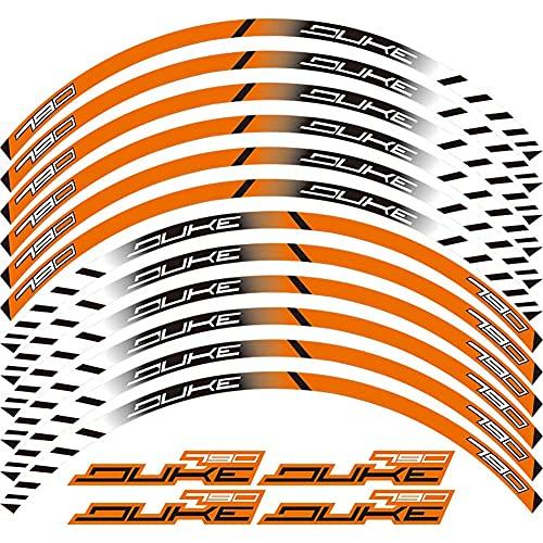 Adhesivo para Rueda De Motocicleta 12 Tiras Calcomanía Reflectante para Bicicleta De Borde, para K&TM D.UKE790 Duke 790 2017 2018,B