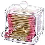 Oyfel Organisateur Boîte de Rangement Acrylique Transparent Tiroirs Cosmétique Maquillage Bijoux Rouge à Lèvres Coton-Tige Tampon de Coton 1 Pcs