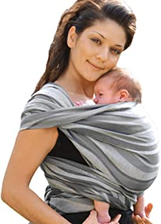 DIDYMOS Woven Wrap Baby Carrier Waves Silver (Organic Cotton), Size 8