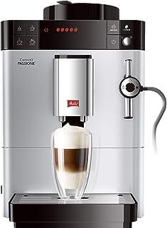 Melitta Passione F530-101, Cafetera Automática con Molinillo, Café en Grano, Sistema de leche, Limpieza Automática, Personalizable, 15 Bares, Plata