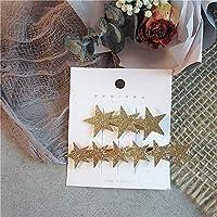 韓国ファッションメタリックゴールド幾何ヘアピン模造真珠ラブレターヘアクリップグリッタースターロングストリップカモノハシバレッタ