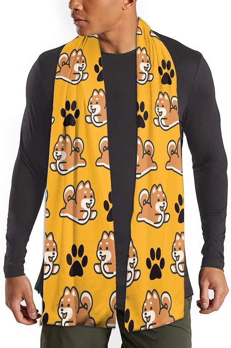 Soft & Warm Classic Style Cashmere Feel Winter Scarf Unisex(Cute Shiba Inu Glasses Dog)