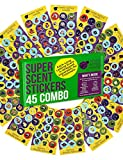 Purple Ladybug 45 Sheets of Scratch and Sniff Stickers for Kids & Teachers with 15 Different Scratch N Sniff Intense Smells! Motivational Smelly Stickers & Super Scented Reward Stickers for Students!