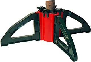 Omega Christmas Tree Stand- No Screws |Unbreakable Nylon Clamps |Holds up to a 10` tree | Holds 1 gallon of water| Collaps...