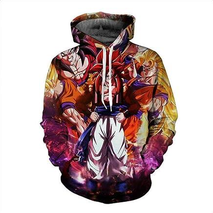 HOOSHIRTA 2019 Men 3D Hoodies Dragon Ball Z Pocket Hooded Sweatshirts Male Kids Goku egeta Print