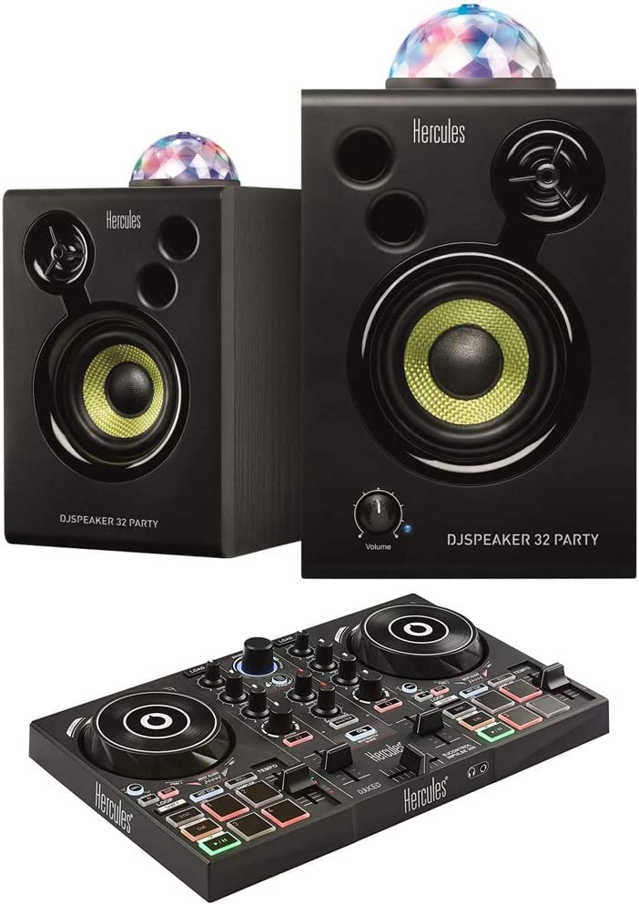 Easy-to-use HERCULES AMS-DJMONITOR-32-PAR DJSpeaker Monitor Today's only Party Pack 32 wi