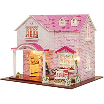 DIY Dollhouse 3D Cabin Attic Miniature House With Music For Birthday Gifts