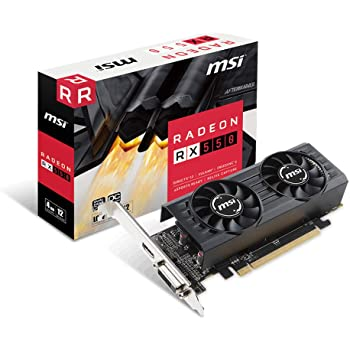 MSI AMD RX550 搭載 ロープロファイル対応グラフィックカード [ Radeon RX 550 4GT LP OC ]