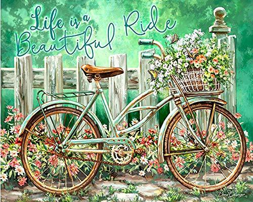 Zhonchng DIY olieverfkit voor kinderen en volwassenen - fiets 16X20 inch Met frame