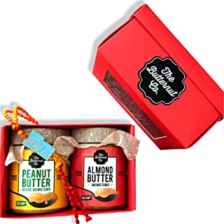 "The Butternut Co. Deliciously Healthy Rakhi Gifts of Unsweetened Almond Butter Creamy, 200g + Organic Unsweetened Peanut Butter, 200g + Tipsyfly ""Big bro"" Rakhi"