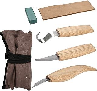 QLOUNI Kits de 5pcs Carpinterías Versatilidad con Cuchillos Afilados de Acero Inoxidable para Tallar Madera para tallar madera,Cuencos,Cuchara,etc
