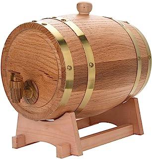 HWhome 3L Tonneau Oak Barrel,Fûts De Whisky avec Un Porte-fût pour Stocker Votre Whisky De Liqueur De Vin