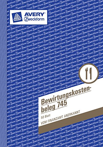 3er Sparpack Avery Zweckform 745 Bewirtungskostenbeleg (A5, mikroperforiert, 50 Blatt) gelb