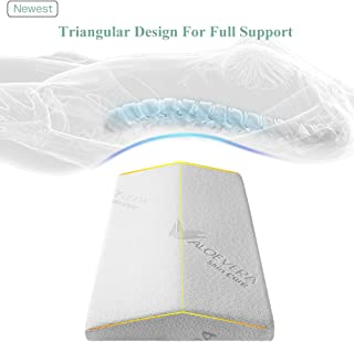 [Upgrade Thick] Lumbar Support Pillow for Sleeping, Back Support Bed Pillow, Memory Foam Spine Pillow for Lower Back Pain Sleeping on Side, lying, Ergonomic Therapeutic Pillows under Waist, Knee, Leg