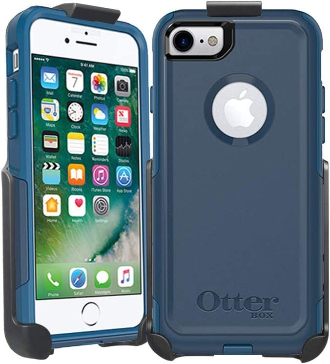 Belt Clip Holster Compatible with OtterBox Commuter Series iPhone 7, iPhone 8, iPhone SE 2ND Gen - 2020 (OtterBox case is not Included) Features: Rapid Release Latch & Built-in Kickstand