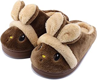Kid Slippers Cute Rabbit Girls Boys Winter Warm Comfort Home Shoes