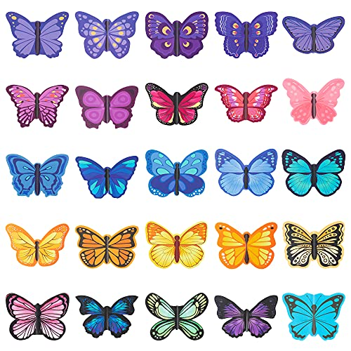 GROBRO7 25Pcs Butterfly Magnetic Bookmarks Set Foldable Magnet Page Markers Durable Book Page Clip Office Stationery Home School Supplies for Teachers Students Friends Classmates Reading Lovers