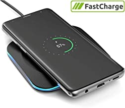 Encased Galaxy Note 10 Plus/ S9 / S8 / S10 Plus Charger Quick Charge 3.0 Wireless Pad - Fast Charging Qi Enabled (Case Compatible Non-Slip Design) (Matte Black)