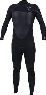 O'NEILL Psycho Tech 3/2mm Chest Zip Wetsuit Black - Chest/Back - TechnoButter 3 Air-Firewall smoothskin