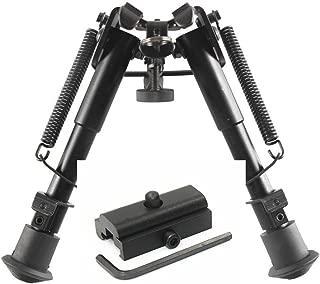 Klau Rifle Bipod, Adjustable Height Spring Return Tactical/Sniper Profile Sling Swivel Mount for Hunting
