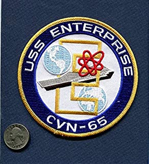 Embroidered Patch-Patches for Women Man- CVN-65 USS Enterprise