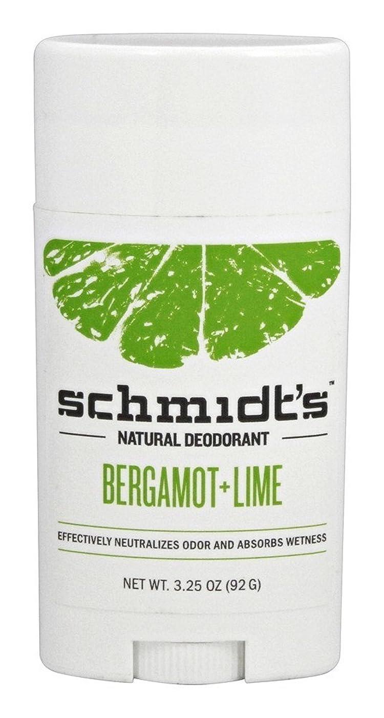 ジャンル拘束する複数Schmidt's Deodorant Stick BERGAMOT + LIME 3.25 oz シュミッツ デオドラント ベルガモット ライム 92g [並行輸入品]