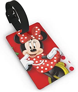 Luggage Tags Mickey Mouse Minnie Love Couple Heart Suitcase Labels Bag Tag Travel ID Identifier Baggage Tag