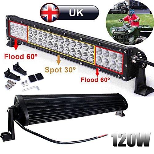 120W LED foco de inundación de la barra de la luz de la conducción de la lámpara de trabajo para todoterreno SUV VAN barco camión 12V