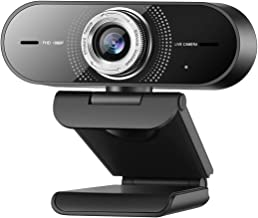 1080P Computer Camera with Microphone,Web Camera with Wide Angle for Conferencing/Online Teaching/Meeting,Low-Light Correc...