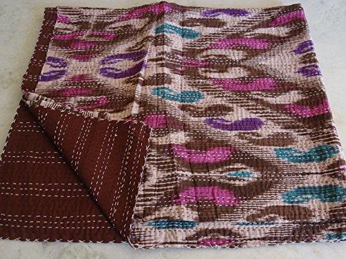 Tribal Textiles asiatiques Multicolore Paisley Imprimé Ikat Reine Taille Couvre-lit Housse Couette Lit Couverture, X, X, X, Parure de lit Bohème x Taille 228,6 x 274,3 cm 11114