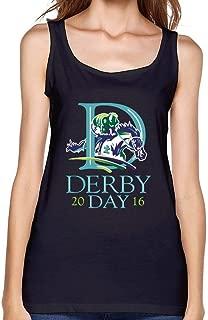 VEBLEN Women's Kentucky Derby 2016 Design Cotton Tank Top