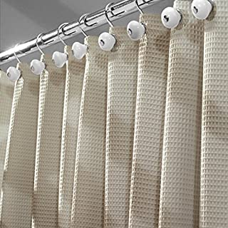 3D 90 x 180cm anillas de cortina de pl/ástico y dobladillo pesado Cortina de ducha impermeable lavable tela de poli/éster anti-moho con ojales inoxidables Sfoothome