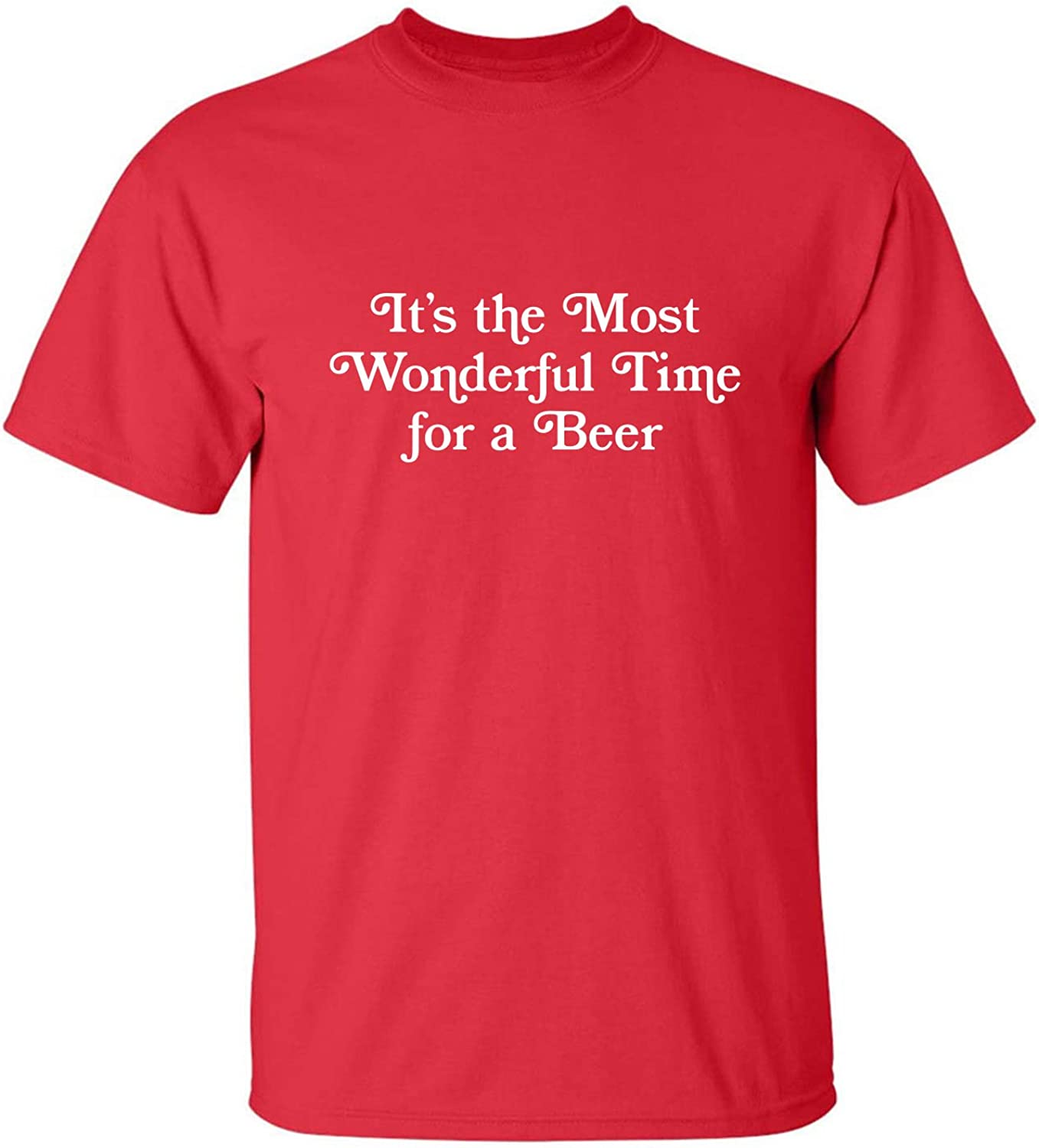 It's The Most Wonderful Time Adult T-Shirt in Red - XXX-Large