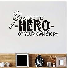 Huanxidp You are The of Your own Story Life Quote DIY الجدار ملصق لغرفة الأطفال ديكور المنزل خلفيات الأولاد غرفة النوم ديك...