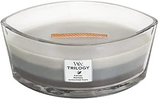 WoodWick Warm Woods Trilogy Hearthwick Ellipse Candle, 16 oz.