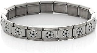 Starter Italian Charm 18 Link Bracelet 17.5 Cm Plain Silver Tone