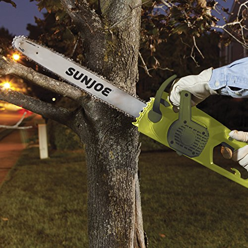 Sun Joe SWJ701E 18-inch 14.0 Amp Electric Chain Saw with Kickback Safety Brake