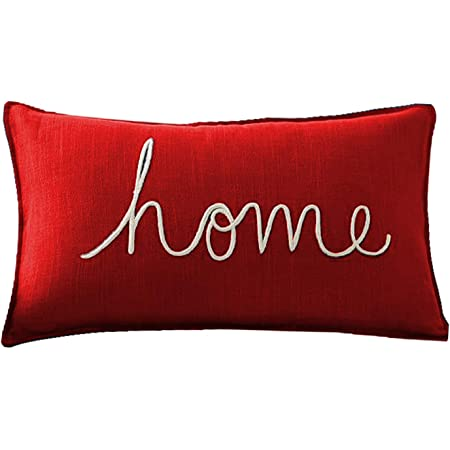 Buy The Purple Tree Pillow 12 X 18 Inch Red 1 Pillow Online At Low Prices In India Amazon In