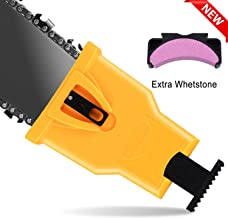 Chainsaw Sharpener - Chain Saw Blade Sharpener Chainsaw Teeth Sharpener, Fast Sharpening Stone Grinder Tools Bar Mount Chainsaw Sharpening Kit Fit for 14/16/18/20 Inch Two Holes Chain Saw Bar